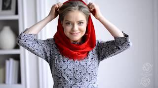Запатентованный снуд платок Ирен Ванидовской - дизайнера одежды марки Ксенюшка