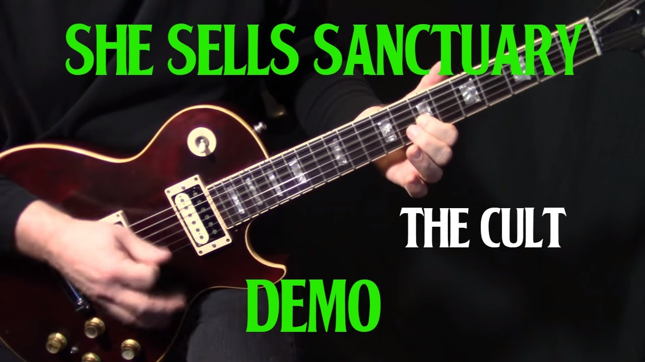 how to play she sells sanctuary on guitar by the cult electric guitar lesson demo youtube. Black Bedroom Furniture Sets. Home Design Ideas