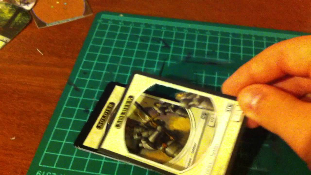 how to make 3d magic the gathering cards youtube