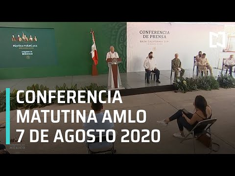 Conferencia matutina AMLO / 7 de agosto de 2020