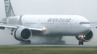 EXTREME WET WEATHER Takeoffs & Landings | Melbourne Airport Plane Spotting