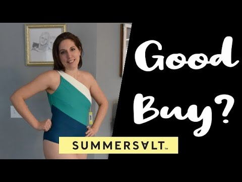 f5d97db1be Summersalt The Sidestroke Swimsuit | Swimsuit Try On Haul (2019 ...