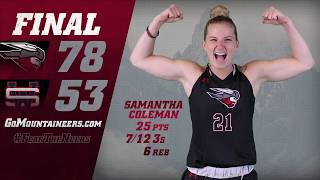 WCU's Coleman Ties Mountaineer WBB Record for 3s in a Game