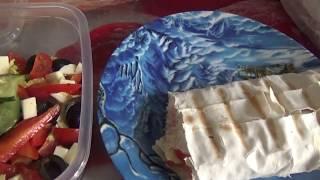 АСМР  Безумно вкусная  шаурма и греческий салат от Якитории