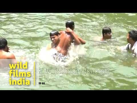 young indian boy swim nude