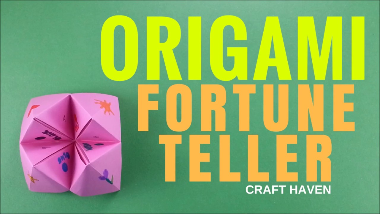 how to make origami fortune teller origami easy fortune