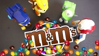 Paw Patrol Nickelodeon Paw Patrol Toys Save the M&Ms ft. Imaginext Batman - Paw Patrol Video Parody