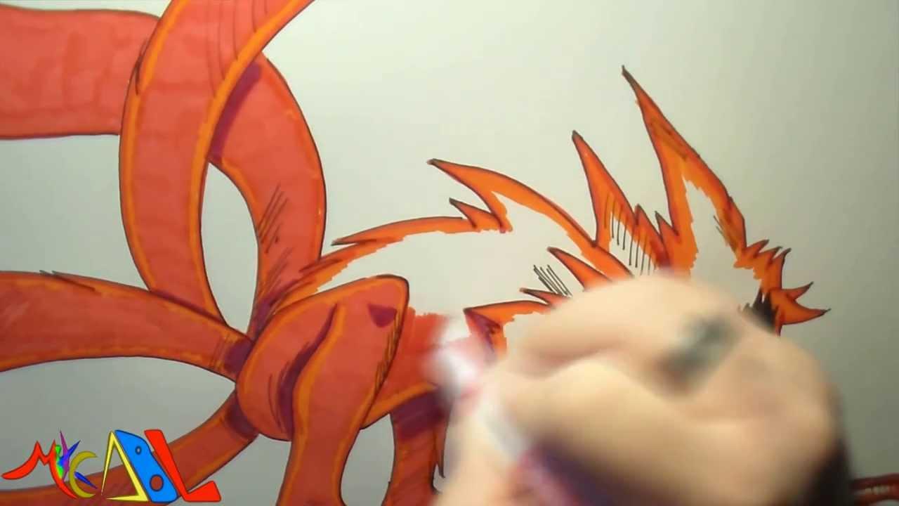 Dibujando a Naruto Kyubi  YouTube