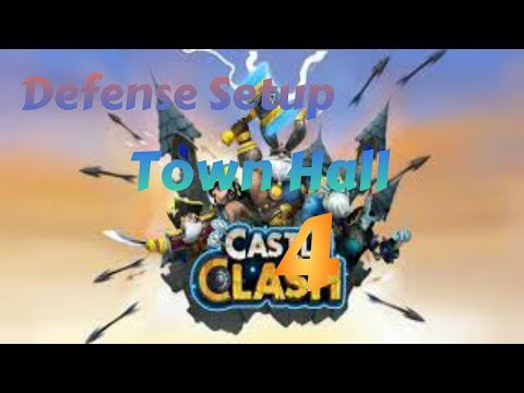 Castle Clash - Defense Strategy For Town Hall Level 4