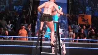 wwe smackdown vs raw diva crazy ladder 1 on 1 tlc ryona