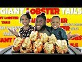 8 GIANT LOBSTER TAILS WITH MY KIDS | NAVEEN'S SPECIAL LOBSTER DIP! | BLOVESLIFE SAUCE | MUKBANG