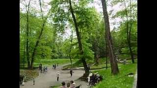 Трускавец -центральный парк май 2014.Truskavec - Central Park in May 2014, staying in Truskavets.