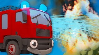 Fiona Fire Truck Saves The Day - Learn With Gecko | Educational Cartoons | Trucks For Kids