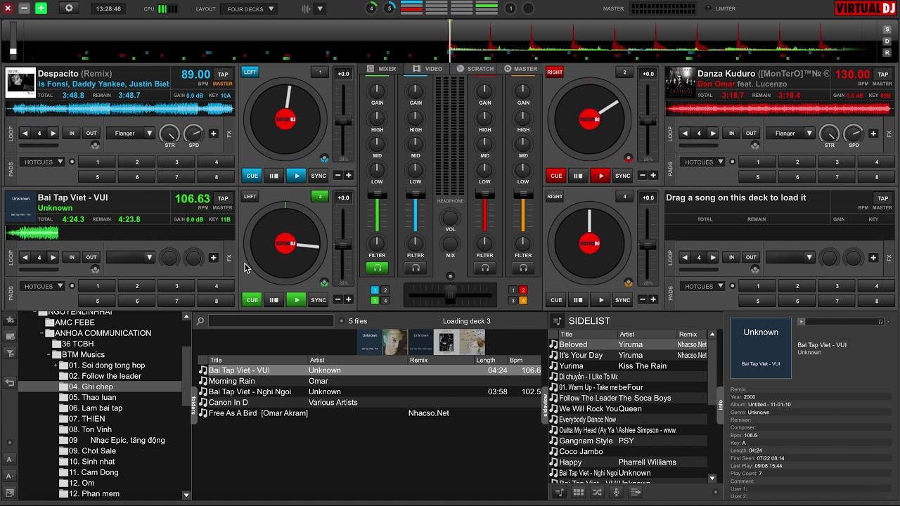 #1. Hướng dẫn sử dụng phần mềm chơi nhạc Virtual DJ 8 cơ bản