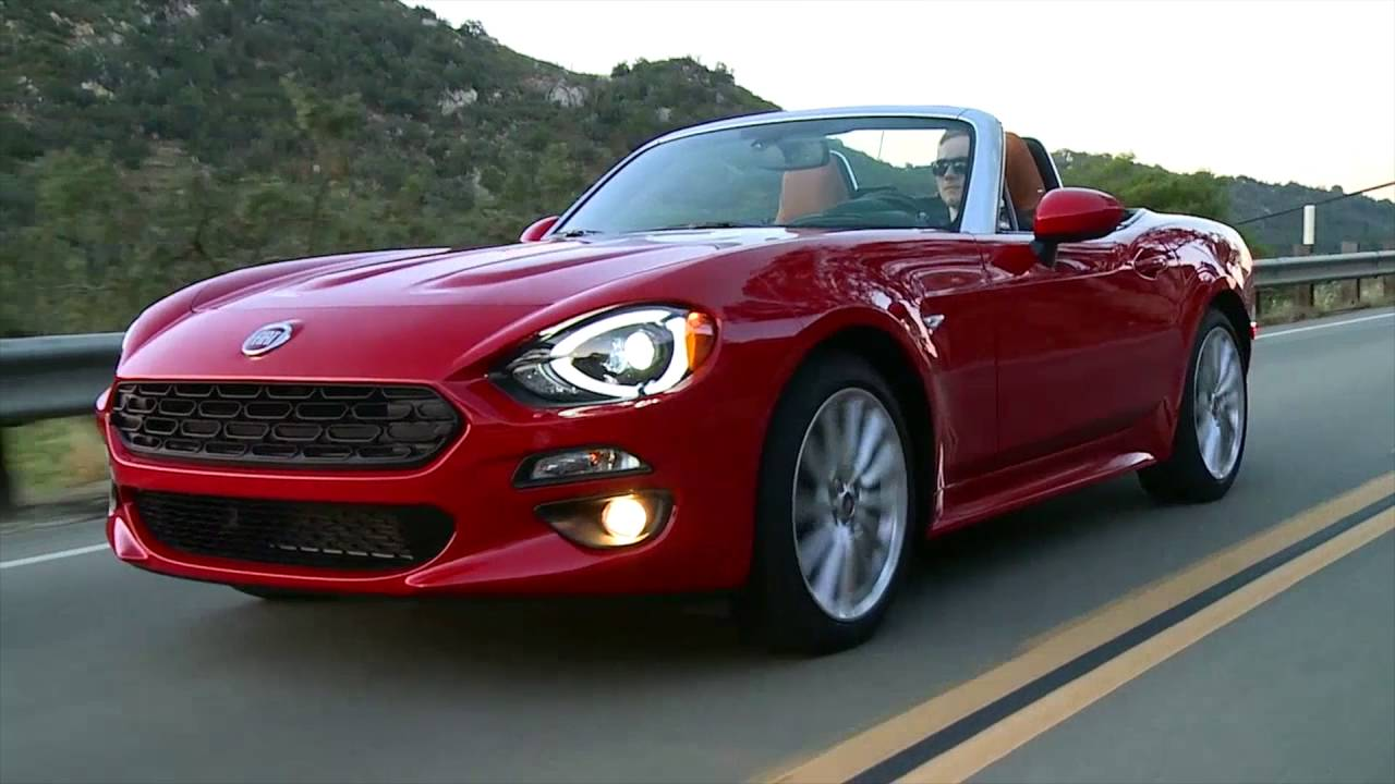 2017 fiat 124 spider lusso driving video trailer automototv youtube. Black Bedroom Furniture Sets. Home Design Ideas