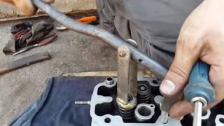видео Как снять клапана с головки. Рассухариватель клапанов — как изготовить специнструмент своими руками?