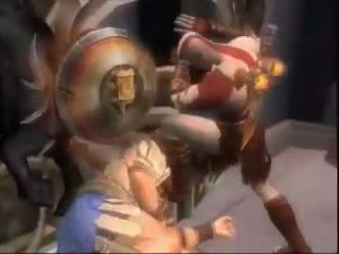 God of War II - head bashing