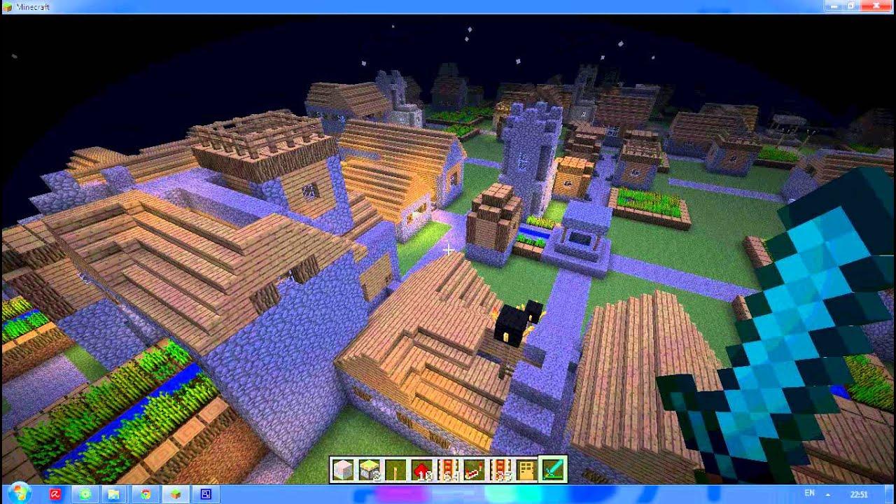 Майнкрафт Самая Большая Деревня