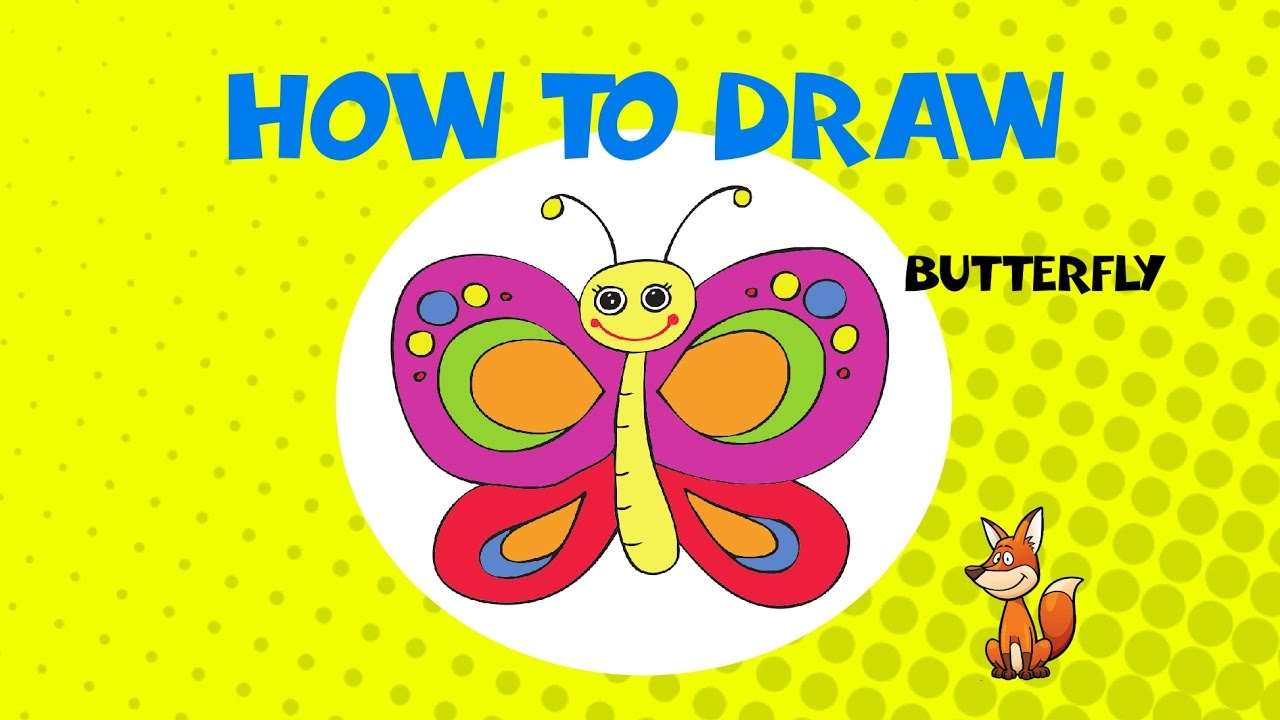 how to draw a butterfly step by step drawing tutorial youtube