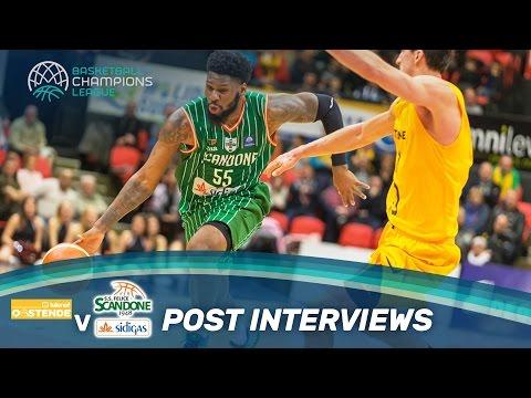Randolph & Thomas on their win - Telenet Oostende v Sidigas Avellino - Interview