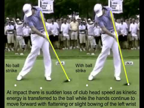 Discussion Re The Flat Left Wrist At Impact In The Golf