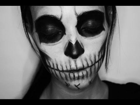 Halloween Makeup: Zombie Boy/Skull (inspiration) - YouTube