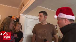 Young Family, With Father Battling Cancer, Surprised With Secret Santa Gift