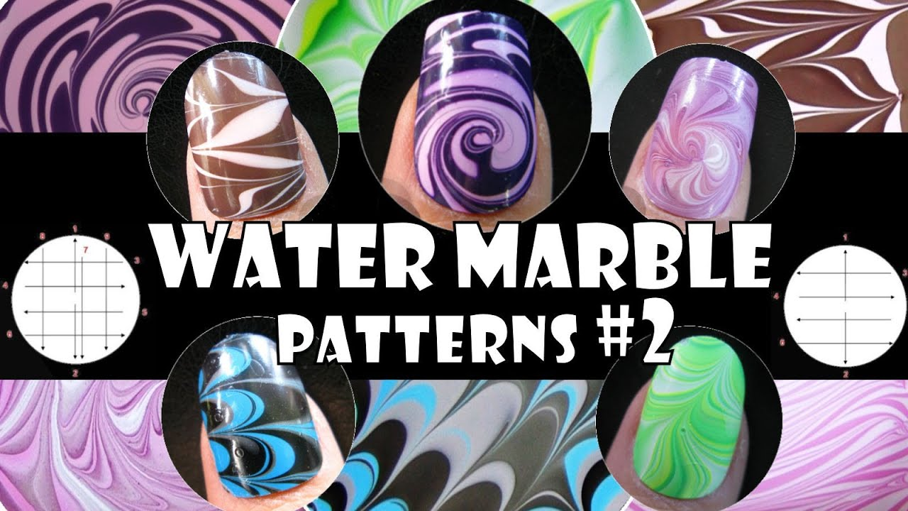 WATER MARBLE PATTERNS #2 | HOW TO BASICS | NAIL ART DESIGN TUTORIAL ...