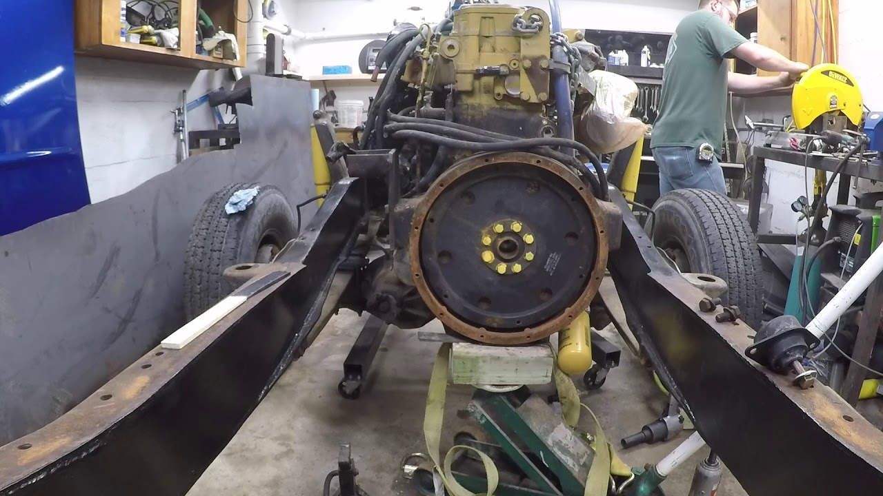 Mounting The Cat 3126 Engine In The F350