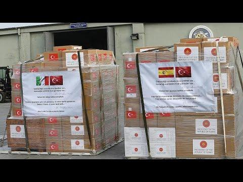 Türkiye, İtalya ve İspanya'ya Covid-19'la mücadelede destek amacıyla tıbbi yardım gönderdi