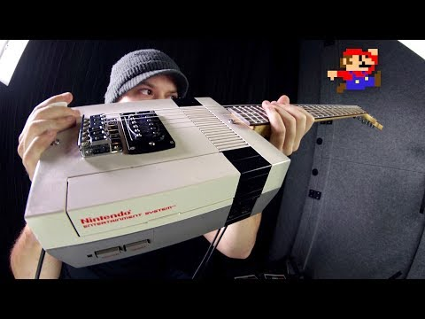 Mario on a NINTENDO guitar!