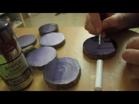 Magnet Production Ahşap Magnet Yapimi Ahşap Boyama Ağaç Dilimi Boyama