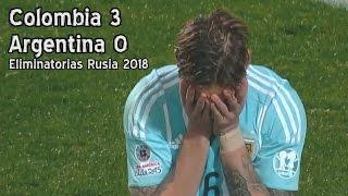 Colombia golea a Argentina por Eliminatorias Rusia 2018