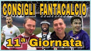 CONSIGLI FANTACALCIO 11ª GIORNATA Serie A...SCHIERATELI!!!