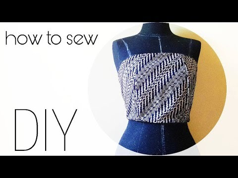 How To Sew Straight Across Strapless Bodice Youtube