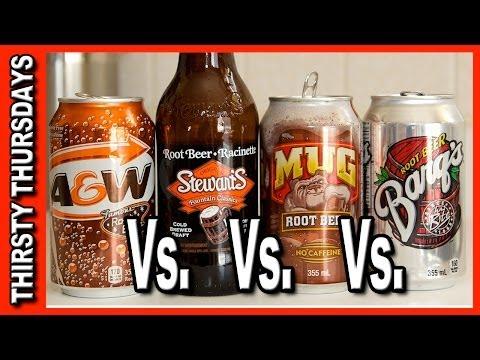 Root Beer Taste Off ★ A&W, Stewarts, Mug and Barqs