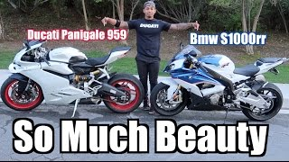 Most Beautiful Bikes ever?! | Bmw S1000rr & Ducati 959 Panigale| Benching 315Ibs for the first time!