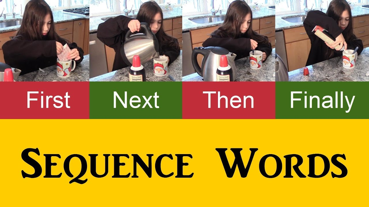 Sequence Words to Describe a Process in English