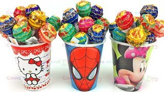3 Chupa Chups Candy Surprise Cups with Kinder and Paw Patrol Eggs