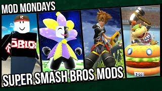 Roblox Guest, Dimentio, Sora, Bowser Jr. (The Patty Wagon) - Super Smash Bros. Wii U Mods