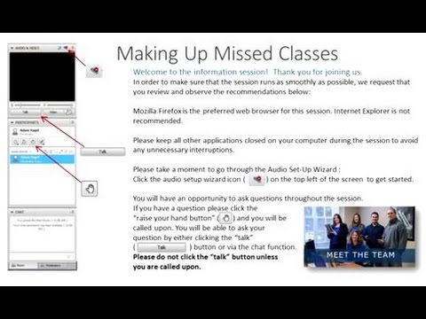 Making Up Missed Classes - Academic Technology