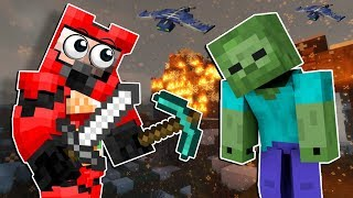 We Spent the Night in a Zombie Village! - Minecraft Multiplayer Zombie Survival Gameplay