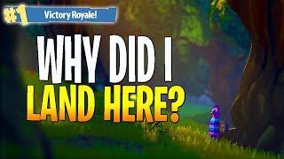 WHY DID I LAND HERE?! - FORTNITE FUNNY MOMENTS (Fortnite Battle Royale)