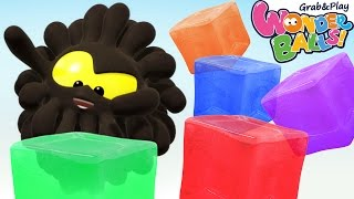 Colors with Wonderballs | Learn Colors With Colorful Ice | WonderBalls Playground