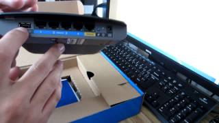 Unboxing Router Linksys N600 (E2500)