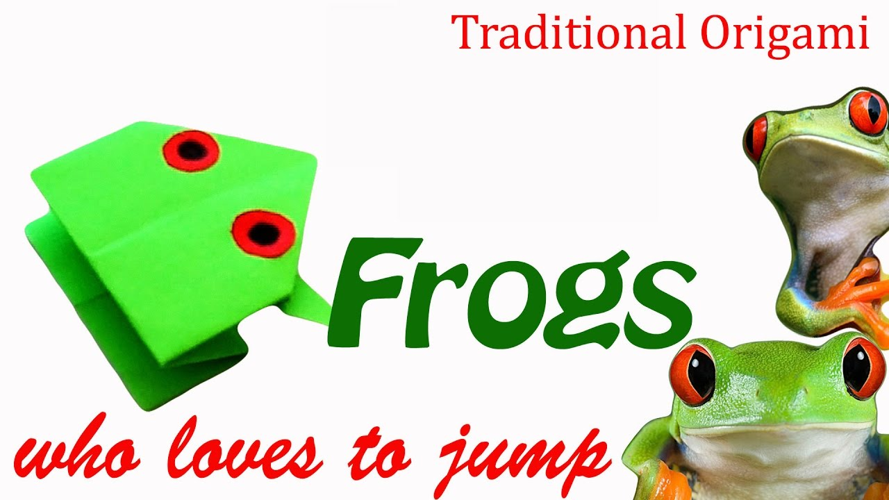 How to make a frog who loves to jump traditional origami frog how to make a frog who loves to jump traditional origami frog game jeuxipadfo Images