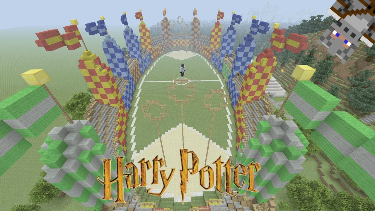 Minecraft Harry Potter Adventure Map Quidditch Pitch 5 Youtube