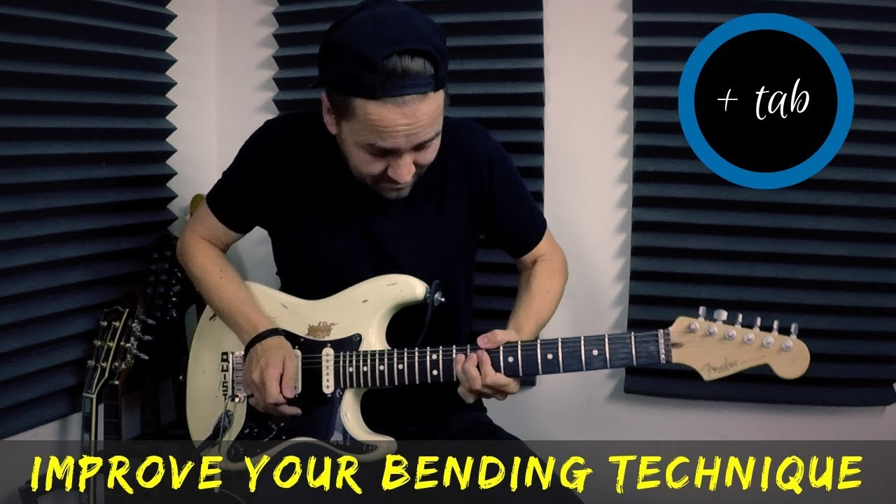 Warming up with    SLOW BLUES BENDS // String Bending Exercise 💪