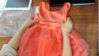 Обзор детского платья с Aliexpress.com