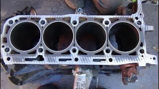 Один наш день ,сборка двигателя М 102.